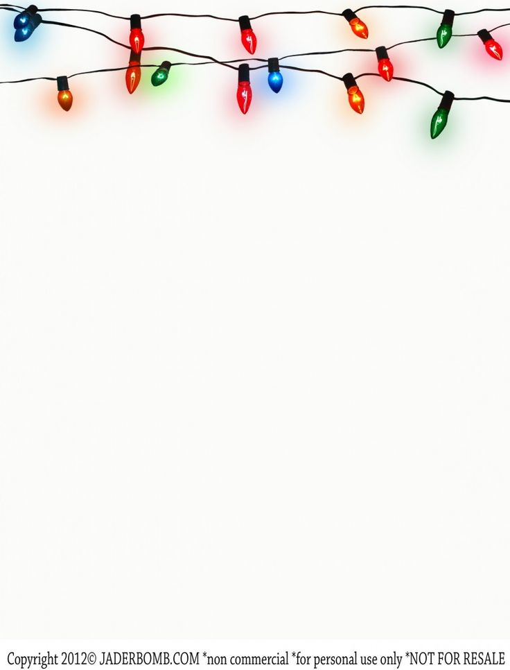 {Write} Christmas Lights Printable- Free PRINTABLE- STATIONERY www.freeprettyprintables.com
