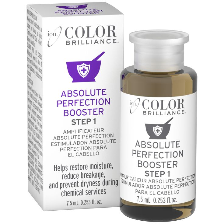 Ion Color Brilliance Absolute Perfection Booster is a single use vial that can be added to hair color and lighteners to help revitalize hair strength.