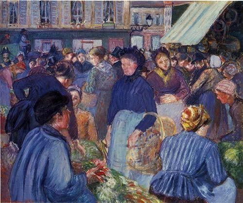 The Market at Gisors - Camille Pissarro 1899