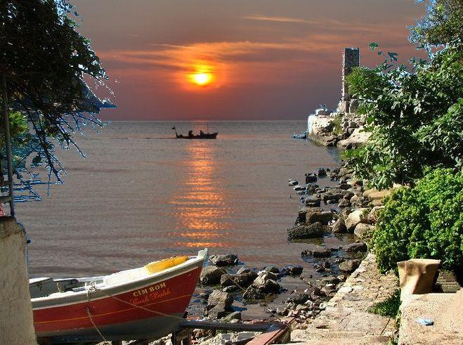 Amasra Gün Batımı.Amasra Küçük Liman ve Direklikaya...