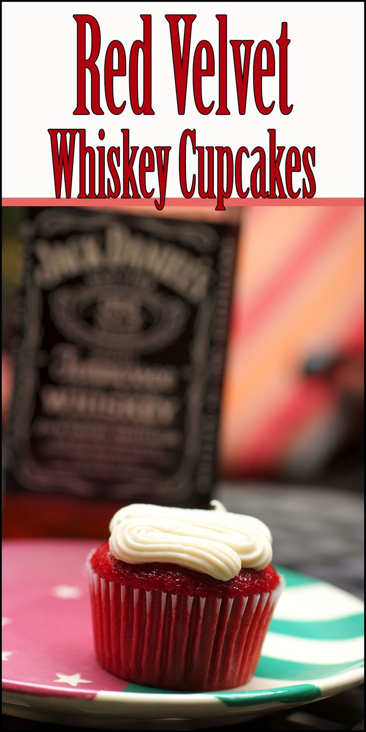 Red Velvet Whiskey Cupcakes by CopyCat Cook