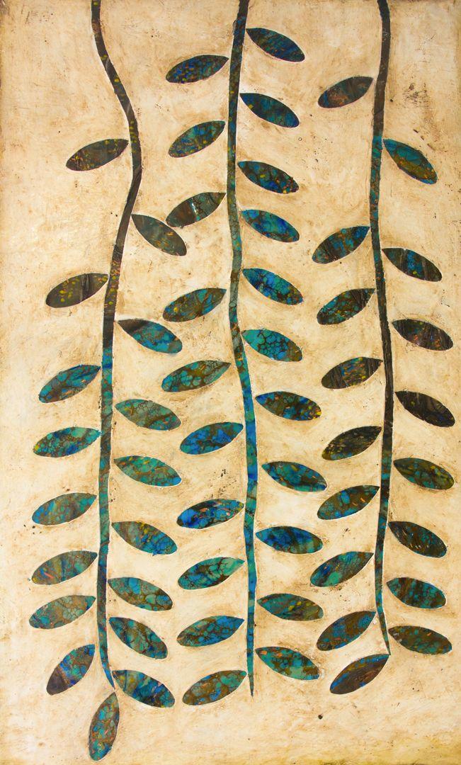 "'The Vine"" 91x55cm encaustic art by Mirella Vassallo"