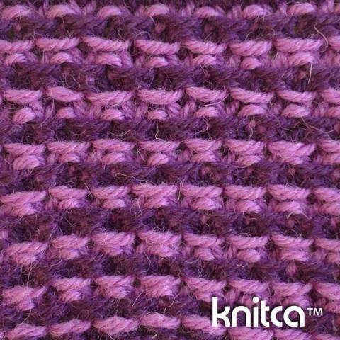 Wrong side of knitting stitch pattern – Slip Stitch 13 : www.knitca.com