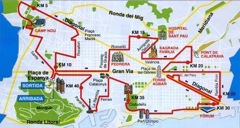 map of barcelona marathon course