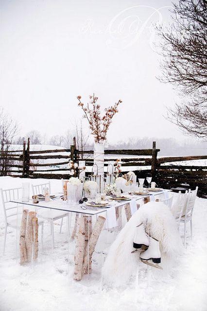 winter wonderland table setting