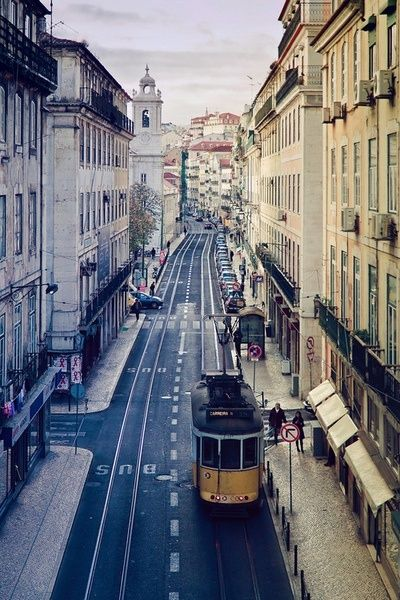 Visiting downtown old streets by tram #Lisbon #Portugal, where you can mingle with the locals. Everybody can speak english and spanich (besides portuguese, of course!  )