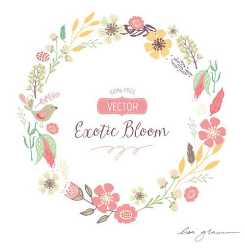 Clip Art Free Floral Clip Art 1000 images about graphic freebies on pinterest watercolors free vector wreath clip art so lovely her hand drawn is divine
