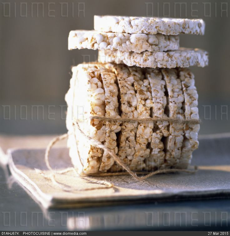 Rice and puffed einkorn cakes - stock photo