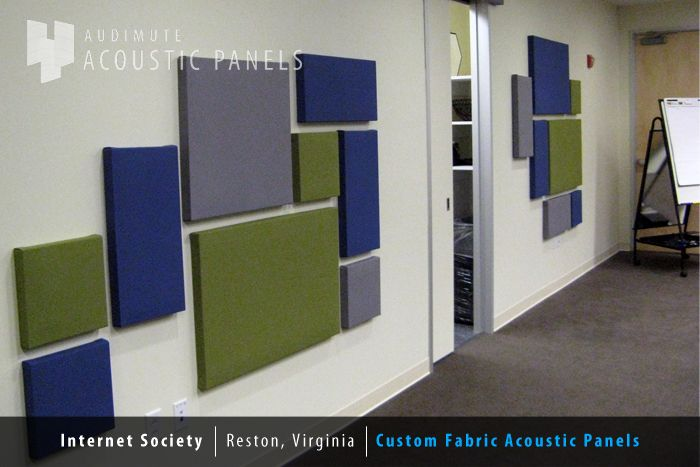 Sound proofing: cut insulation foam board into rectangles and squares, cover in batting and fabric to match color theme. Use duct tape to attach -- nothing fancy. Mounting tape or double sided velcro to hang up