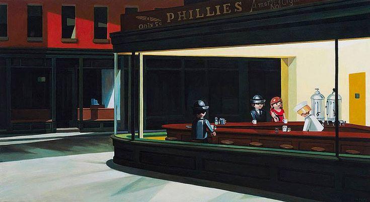 """""""Pierre-Adrien Sollier è un artista francese che vive a Parigi, in Francia: dal 2011 realizza dei dipinti che riprendono quadri famosi, sostituendo gli oggetti e le figure umane con dei Playm…"""