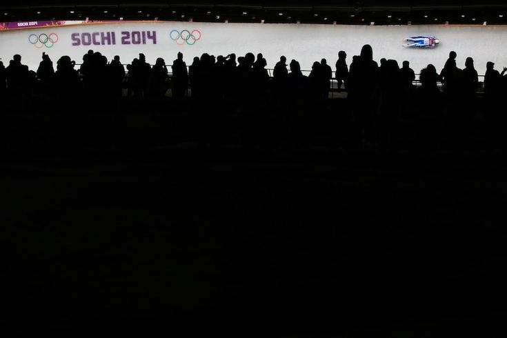 Sandra Robatscher of Italy makes a run during the women's luge singles competition via http://liveolympic.tumblr.com/