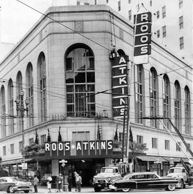 Just bought a sweater labeled Roos Atkins (c. 1959) -- upscale menswear retailer, shuttered 1990s.