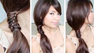 Chinese Staircase Braid Ponytail Hairstyle for Medium Long Hair Tutori…