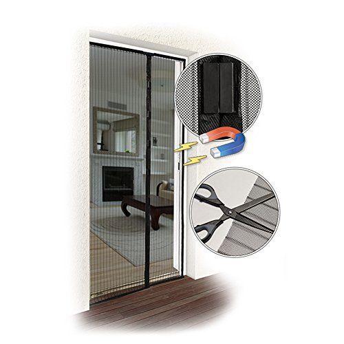 JAROLIFT Moustiquaire  Rideau magnétique pour portes  taille et couleur à choisir   montage sans percer: Price:12.99Dimension du rideau…