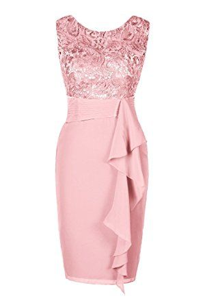 Ellames Women's Short Lace Bridesmaid Dress Formal Party Dress at Amazon Women's Clothing store: