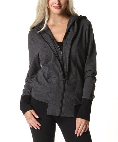 Heather Charcoal Undercover Zip-Up Hoodie by Colosseum #zulily #zulilyfinds