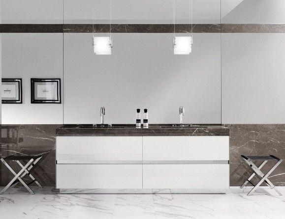 Milldue Four Seasons 15 Lacquered White Luxury Italian Bathroom Vanities