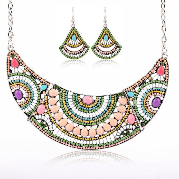 Orientální sada  #sperky #jewellery #jewelry #fashionjewellery #bizu #earrings #czech #czechgirl #náušnice #náhrdelník #etno #sada