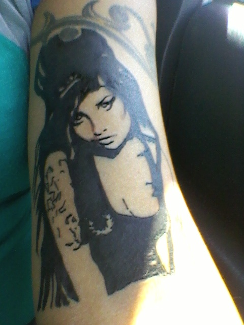 My Amy Winehouse tattoo | Pin ups  My Amy Winehous...