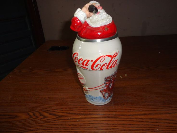 "Coca Cola 1994 Lidded Beer Stein ""Travel Refreshed Santa"" #1 Limited Edition #CocaCola"