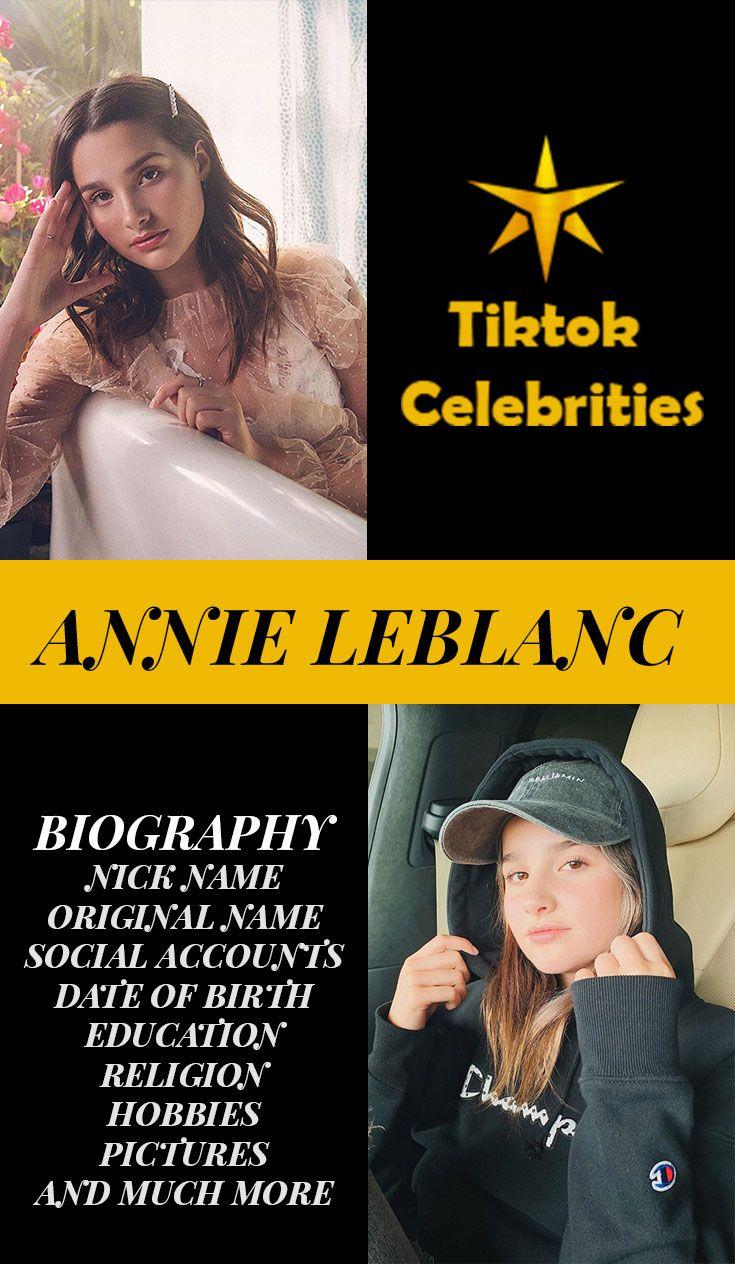 Annie Leblanc Biography Celebrities Social Influence