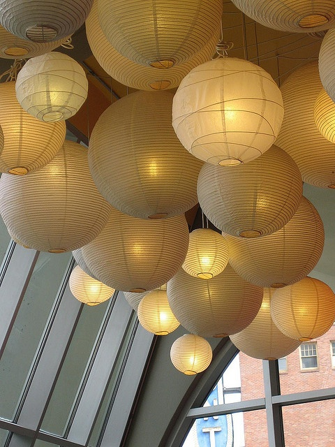 Make a bold statement with a cluster of paper lanterns.