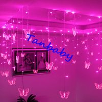 gratis verzending roze / paarse Kerst led snaar licht 104led ...