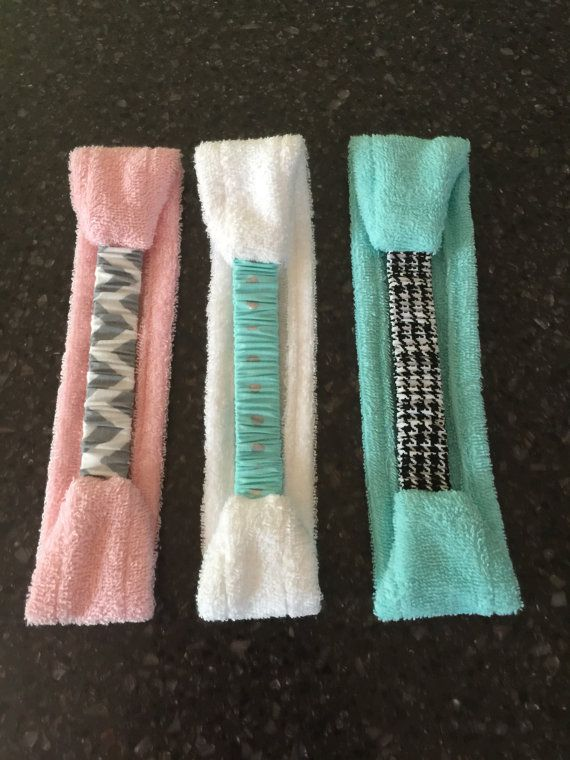 Set of 3 Handmade Terry Cloth Cotton Spa by hatsoffheadbands
