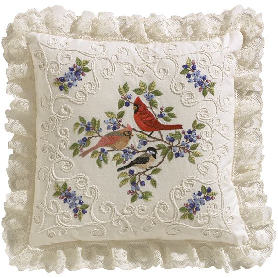 Janlynn Birds And Berries Candlewicking Embroidery Kit14inX14in Stitched In Thread (14inX14in Stitched In Thread) (Cotton)