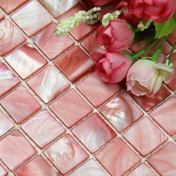 natural sea shell mosaic mother of pearl tile kitchen backsplash mop054 pink mother of pearl tiles