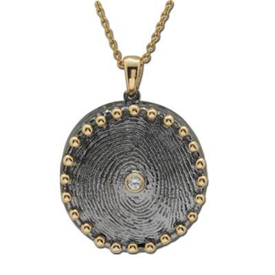 Pırlanta Parmak İzi 18 Ayar Altın Kolye Mariutza, parmak izi koleksiyonu, özel tasarım kolye, hediye kolye
