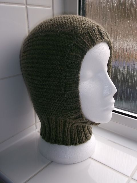"Balaclava - (head size 22.5""/57cm.) (US6/4mm.) - pattern by Brian smith"