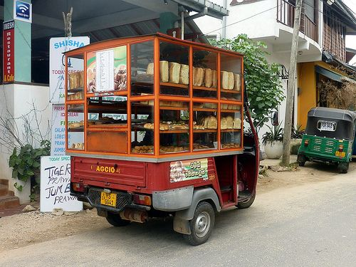 Bread van in Unawatuna, Sri Lanka