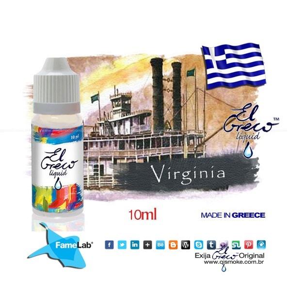 El Greco líquido sabor Virgínia SABOR: Virgínia 10 mL Disponível em 3 teors 18 mg/ml 9   mg/ml 0   mg/ml made in Grecce