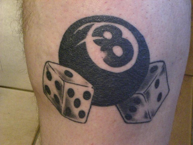 Small 8 Ball Tattoo: 9 Best Images About Eight Ball Tattoos On Pinterest