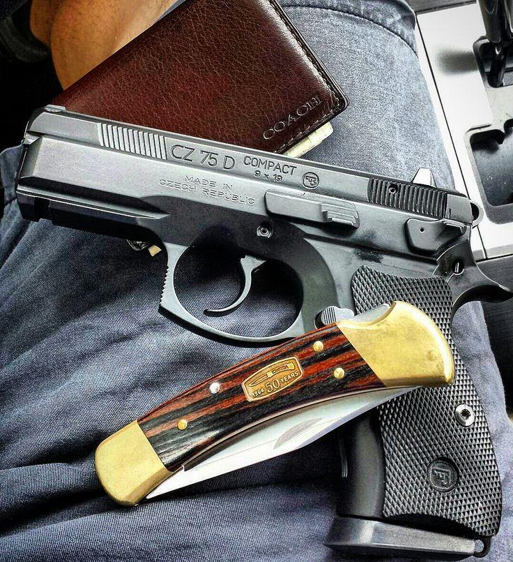 ⠀⠀⠀⠀⠀⠀⠀⠀⠀⠀ ⠀⠀⠀⠀⠀⠀⠀⠀⠀⠀⠀⠀ Manufacturer: CZ  Mod. CZ 75D Compact  Type - Tipo: Pistol  Caliber - Calibre: 9 mm  Capacity - Capacidade: 14 Rounds  Barrel length - Comp.Cano: 3.8  Weight - Peso: 800 g @czusafirearms