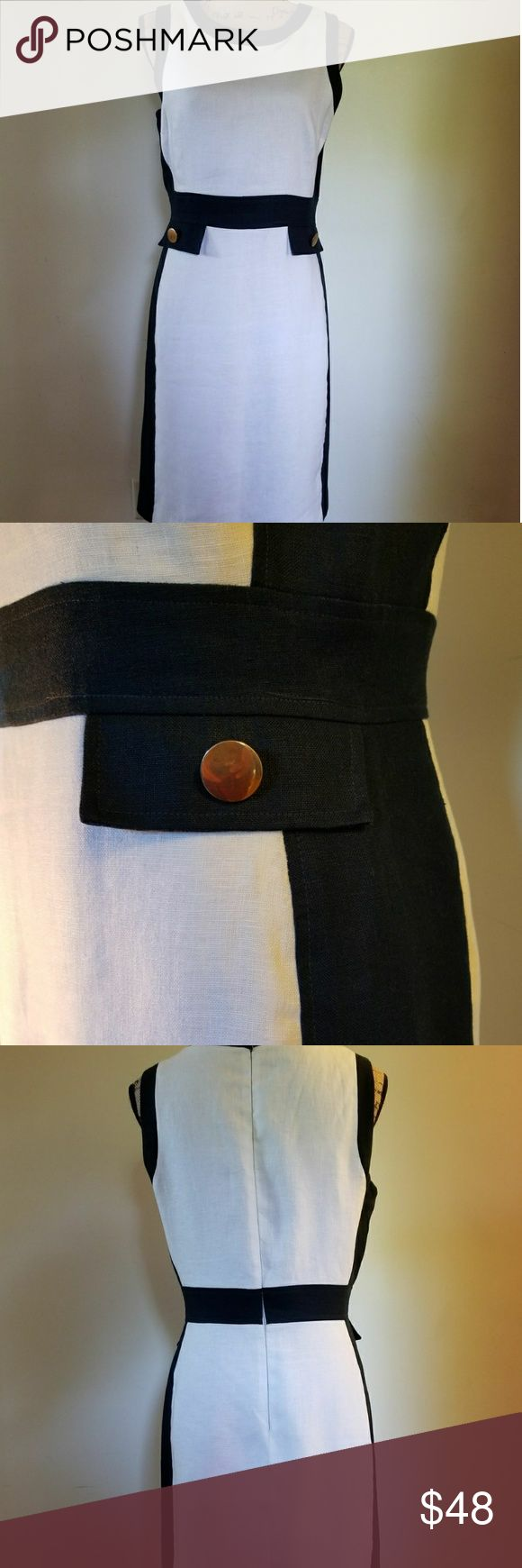 Morgan Mcfeeters dress White and navy blue dress from Lord N Taylor  Excellent condition  Perfect for the summer! Morgan Mcfeeters Dresses