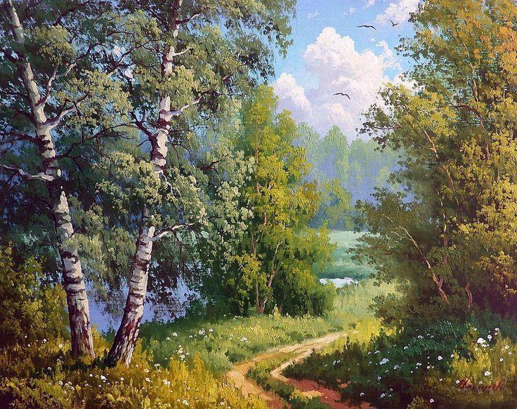 Maxim Ilyin. Birches.   levkonoe