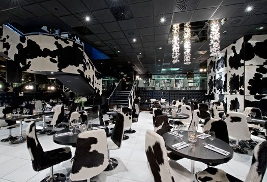 Gaucho on Charlotte St looks a bit like the inside of a cow's space ship. The lack of natural light makes it an ideal place to lose track of time. Steak is clearly a must have!