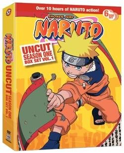 Deep within the Hidden Leaf Village, young ninja Naruto Uzumaki carries sealed within him the spirit of the Nine-Tailed Fox,  Naruto DVD Season 1 Box Set 1   (Hyb) Uncut http://www.rightstuf.com/catalog/browse/link/t=item,c=right-stuf,v=right-stuf,a=tomatovision-tv,i=782009240242