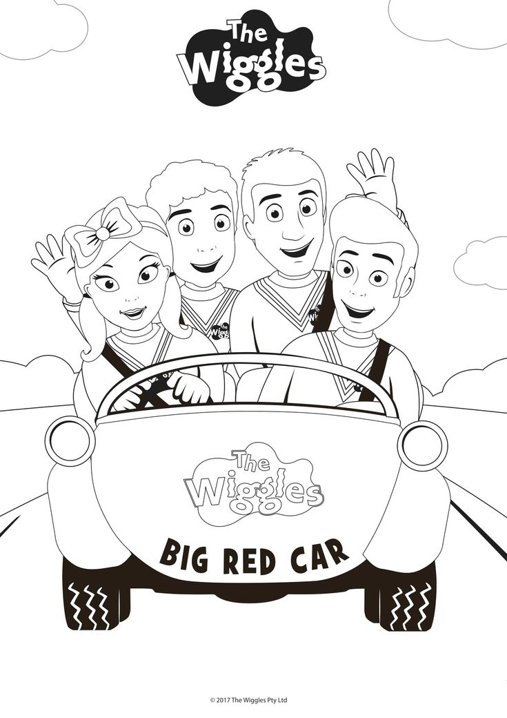 Wiggles Coloring Pages Get Your Red Yellow Purple And Blue
