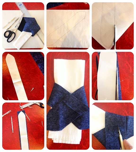 {How to Make a Napkin Close by a Scrap of Fabric}