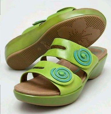 New Women DANSKO Very Rare DIXIE Lime Green slide Sandals 38 7.5 8 SALE!! $140