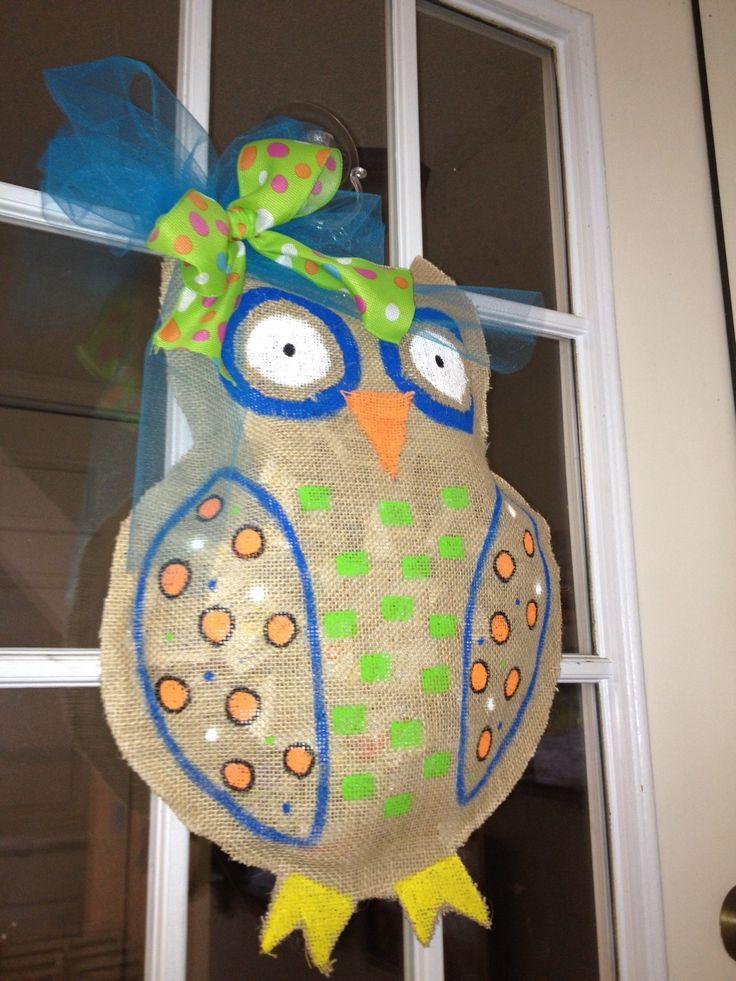 Owl burlap craft