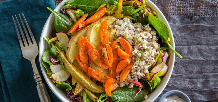 I'm cooking Spring Supergrain Salad with Green Chef https://greenchef.com/recipes/vegan-spring-supergrain-veggie-bowl