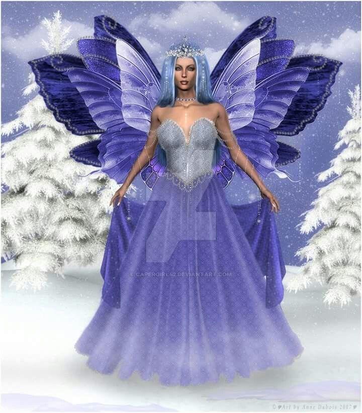 Winter fairy image by Kerrie Burtram on BUTTERFLY FAIRIES ...