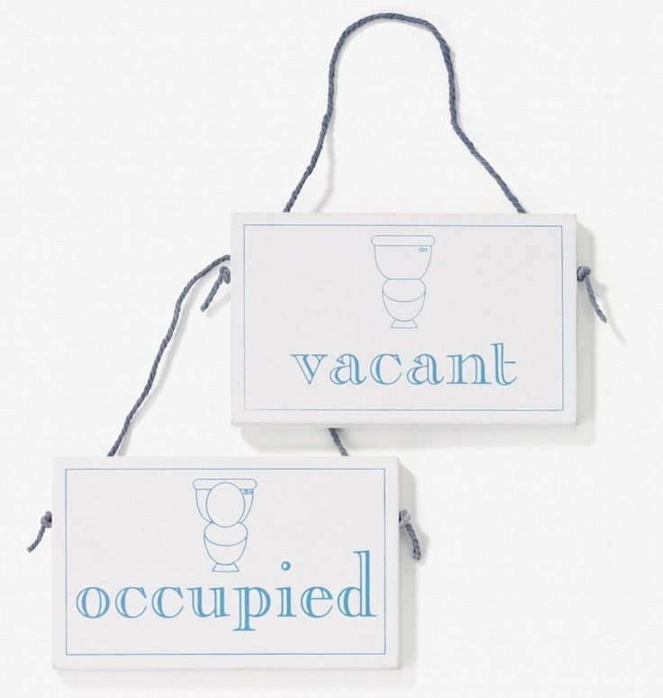 Vacant occupied wooden hanging sign for Bathroom occupied sign