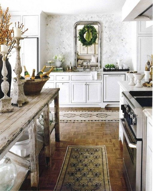 Rrustic and traditional. Loving the tones, but concerned that there is not enough room between the oven and the table island, Staging, Yes, we think so, but good job guys.