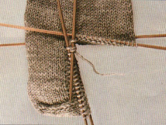 socks: knitting the gusset