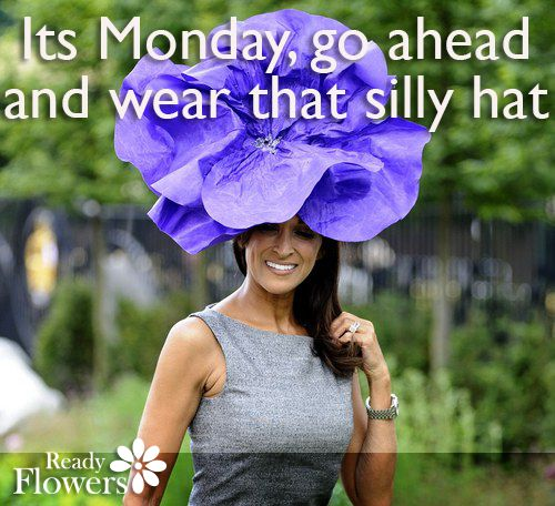 It's Monday, go ahead and wear that silly hat.